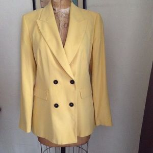 Zara yellow double breasted jacket size large